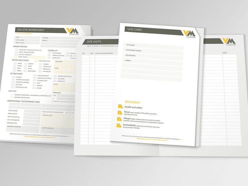 Vm elevators – Log card – work sheets