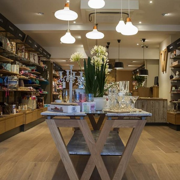 Wrattens-retail-feature-lighting-and-bespoke-table-by-Nugget-Design