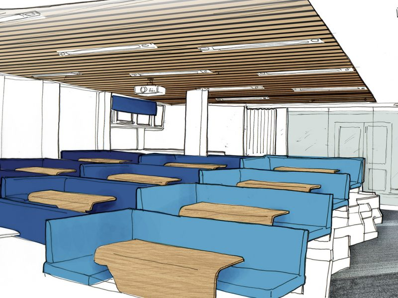 York University Interior sketch Concept By Nugget Design