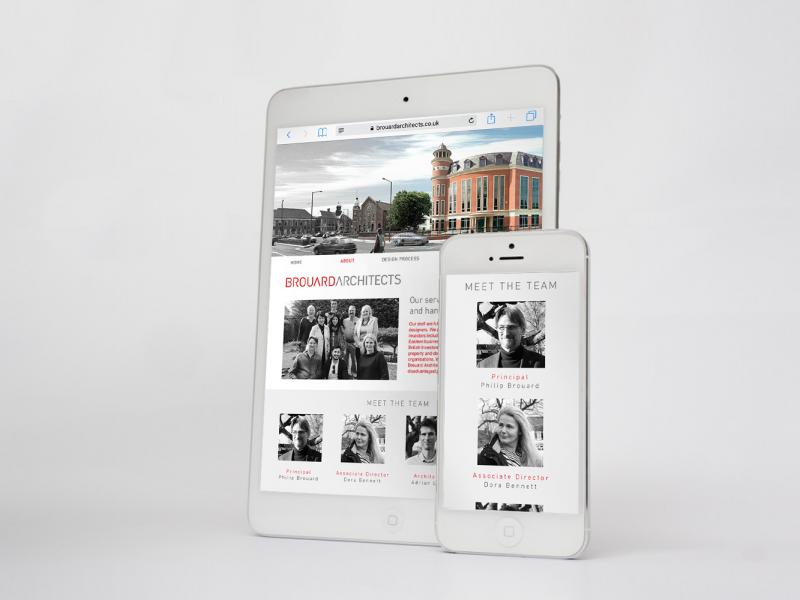 Brouard Architects, Website iPad:iPhone Mockup