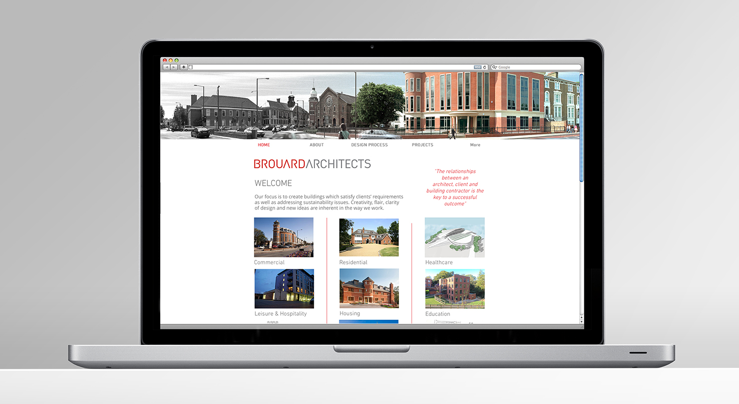 Brouard Architects – new web design by Nugget Design