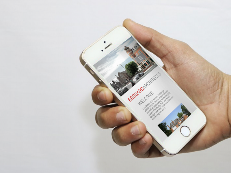 Brouard Architects. Website Phone Mockup