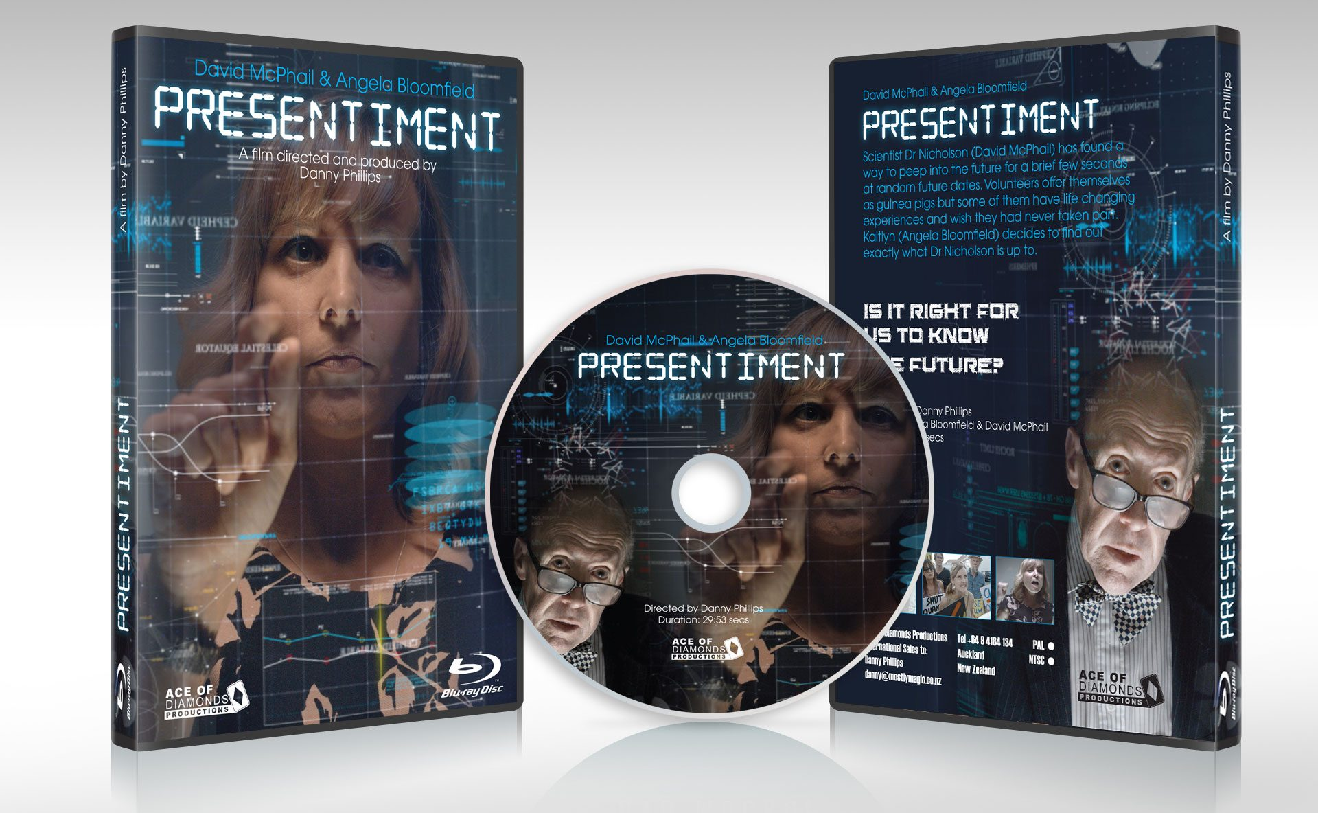 Presentiment DVD cover design by Nugget Design