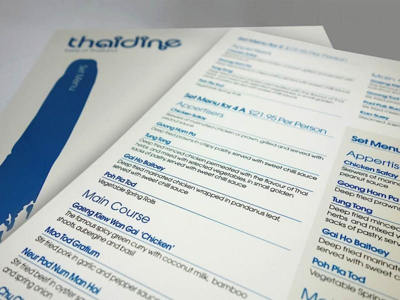 Thaidine-menu