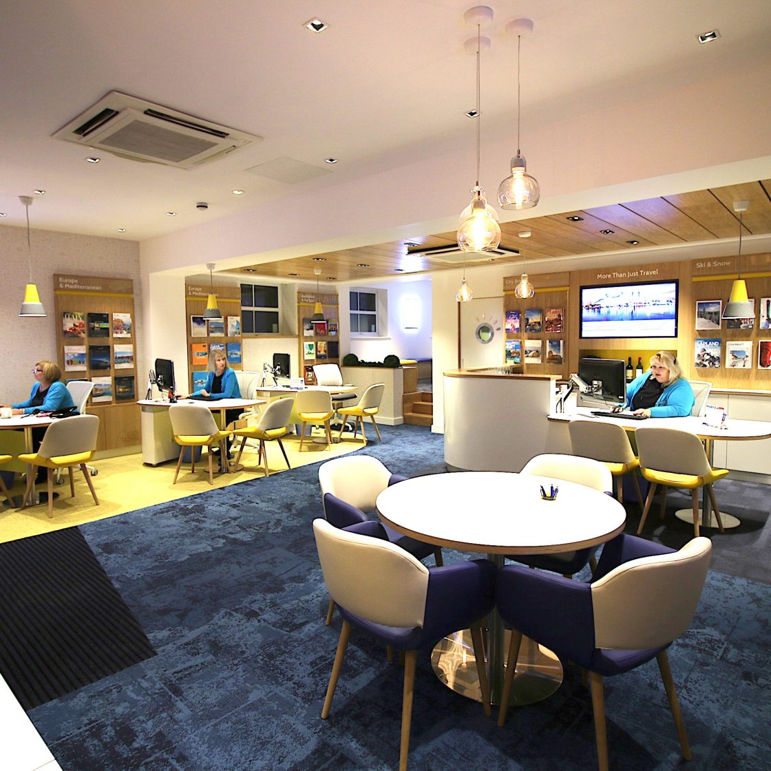 Multi disciplinary design agency in kent nugget design for Travel agency interior design