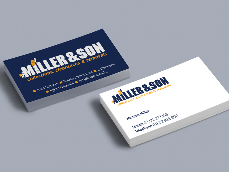 Miller & Son – Brand Buisness Cards Visual