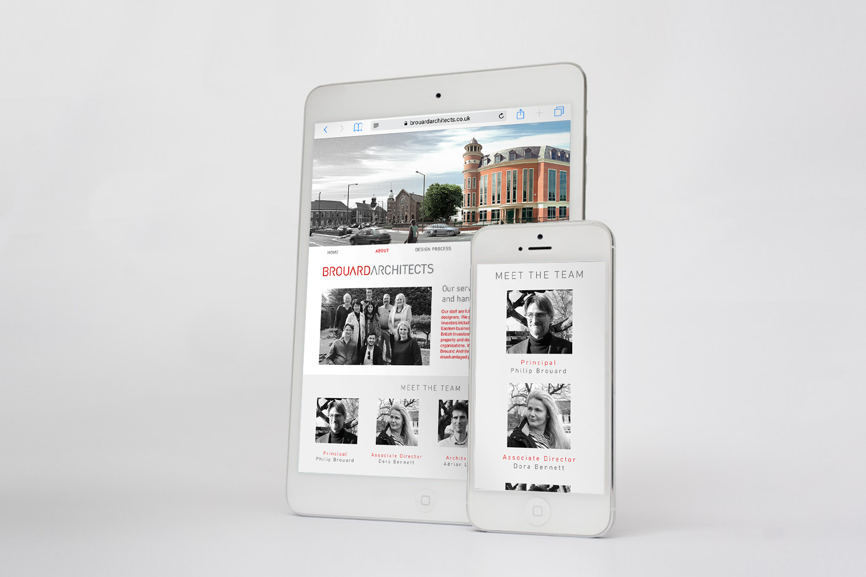 Brouard Architects Website Ipad Iphone Mockup Nugget Design